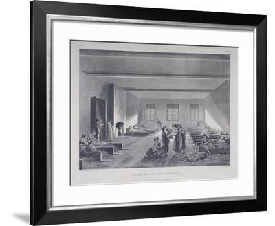 Women and Children in Bridewell's Hospital, London, 1808-John Hill-Framed Giclee Print