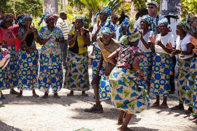 Women and Men Dancing in Traditional Dress, Benguela, Angola-Alida Latham-Photographic Print