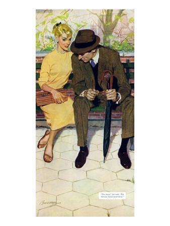 "Women Are Like That - Saturday Evening Post ""Men at the Top"", January 12, 1957 pg.31-Lynn Buckham-Giclee Print"