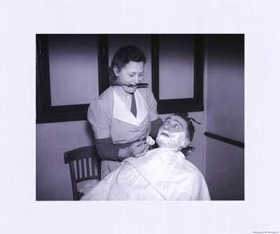 Women at War: Barbers--Art Print