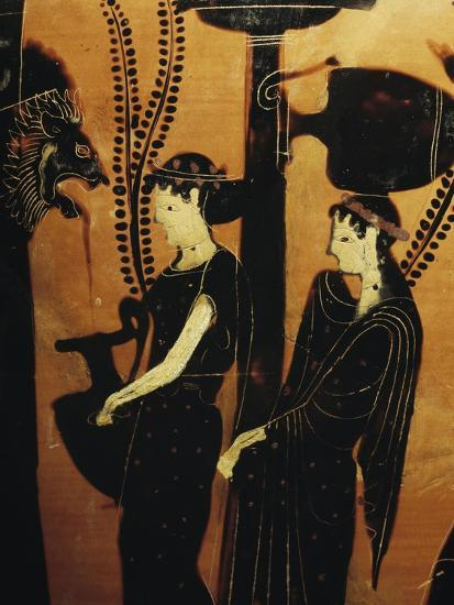 Women at Well, Detail from Red-Figure Attic Vase, 5th Century BC--Giclee Print