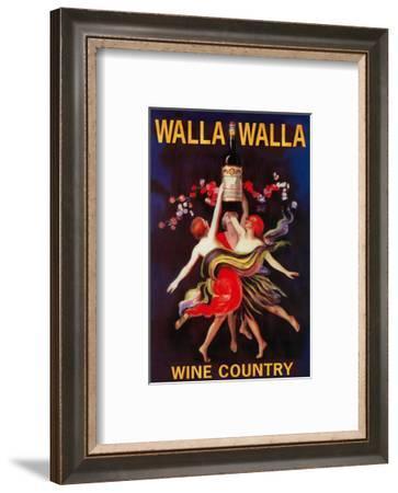 Women Dancing with Wine - Walla Walla, Washington-Lantern Press-Framed Art Print