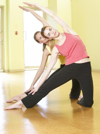 Women Doing Yoga--Photographic Print