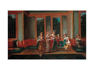 Women Drinking Coffee-Jean-Baptiste Vanmour-Giclee Print