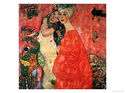 Women Friends, 1916-17 (Destroyed in 1945)-Gustav Klimt-Giclee Print