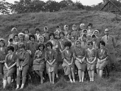Women from the Ici Powder Works in a Group Photograph, South Yorkshire, 1962-Michael Walters-Photographic Print
