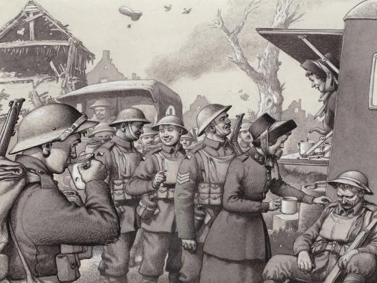 Women from the Salvation Army During the Great War-Pat Nicolle-Giclee Print