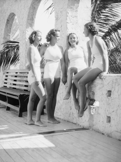 Women Gather Poolside-Philip Gendreau-Photographic Print