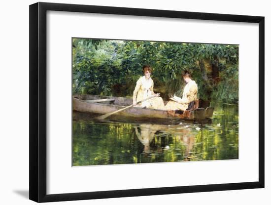 Women in a Rowboat-Francis Coates Jones-Framed Premium Giclee Print
