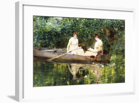 Women in a Rowboat-Francis Coates Jones-Framed Giclee Print