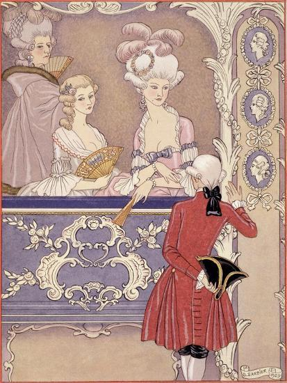 Women in a Theater Box, Illustration from Les Liaisons Dangereuses by Pierre Choderlos de Laclos-Georges Barbier-Giclee Print