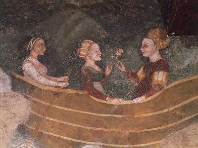 Women in Boat, Detail--Giclee Print