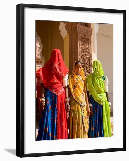 Women in Doorway of Fort Palace, Jodhpur, Fort Mehrangarh, Rajasthan, India-Bill Bachmann-Framed Photographic Print