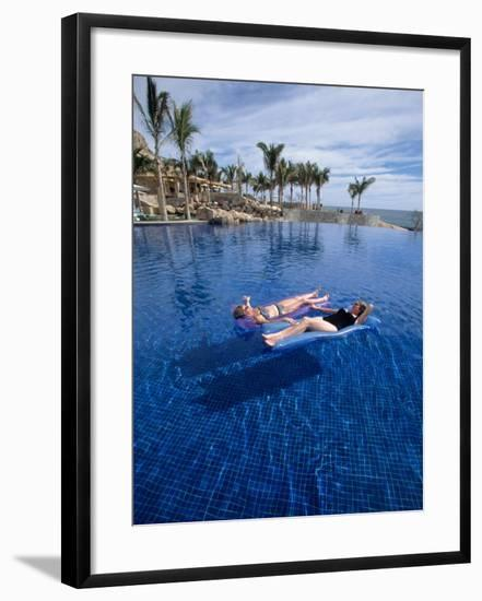 Women in Pool, Cabo San Lucas, Baja CA, Mexico-Yvette Cardozo-Framed Photographic Print