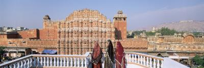 Women in Saris in Front of the Facade of Hawa Mahal, Jaipur, Rajasthan State, India-Gavin Hellier-Photographic Print