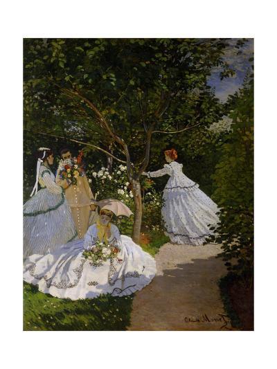 Women in the Garden at Ville D'Avray, 1867-Claude Monet-Giclee Print
