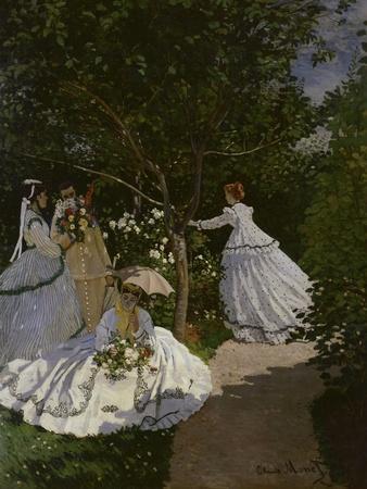 Lovely Women In The Garden, C.1866By Claude Monet