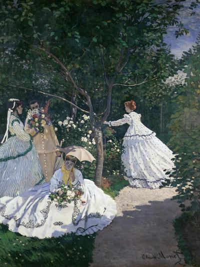 Women in the Garden-Claude Monet-Giclee Print