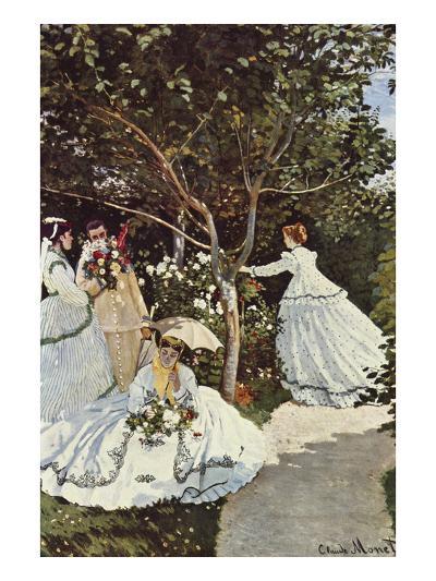 Women in the Garden-Claude Monet-Art Print