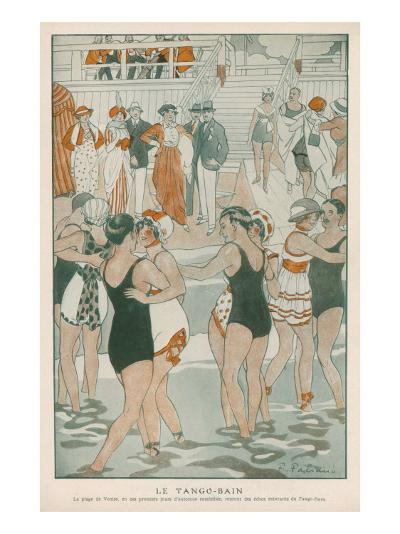 Women in their Swimsuits Dance the Tango-Bain at the Lido, Venice--Giclee Print