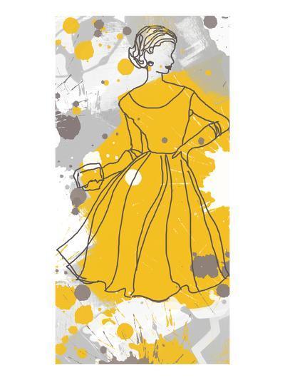 Women in Yellow Dress-Irena Orlov-Art Print
