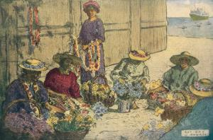Women Making Leis