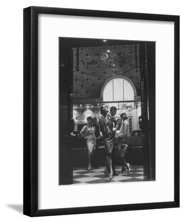 Women Modeling Evening Suits-Gordon Parks-Framed Premium Photographic Print