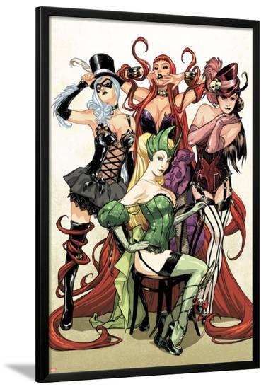 Women of Marvel No.1 Cover: Enchantress, Black Cat, Medusa, and Satana Posing-Sara Pichelli-Lamina Framed Poster