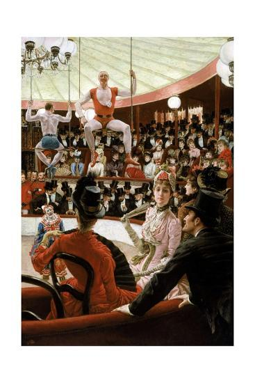 Women of Paris: the Circus Lover-James Tissot-Giclee Print