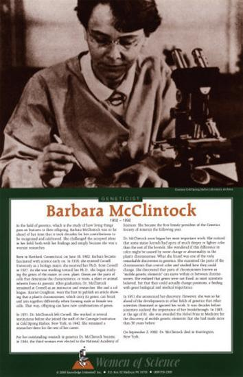Women of Science - Barbara McClintock--Art Print