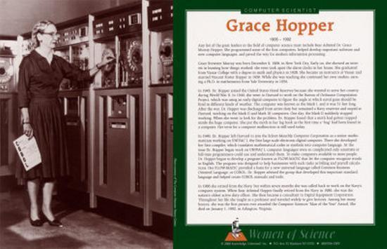 Women of Science - Grace Hopper--Art Print