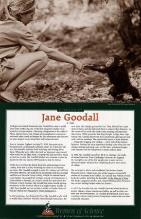 Women of Science - Jane Goodall