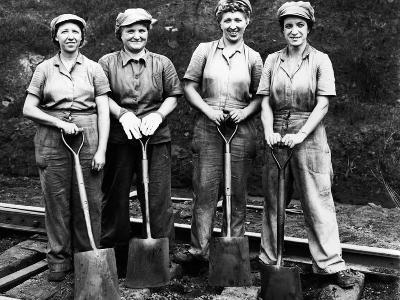 Women of the Rails: Track Work--Photographic Print