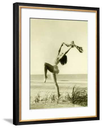 Women on Beach--Framed Giclee Print