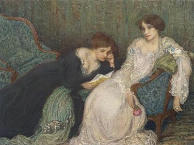 Women Reading on Day Bed--Art Print
