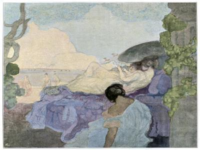 Women Relaxing by the Sea, 1898-Charles Conder-Giclee Print