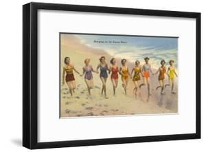 Women Running on Beach