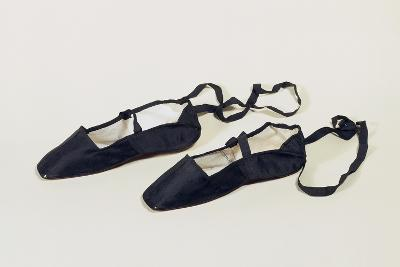 Women's Ankle Strap Shoes with Silk Satin Upper--Giclee Print