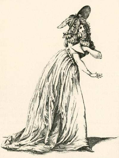 Women's Fashion During the French Revolution. from Illustrierte Sittengeschichte Vom Mittelalter Bi--Giclee Print
