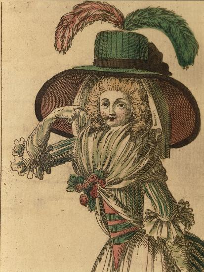 Women's Fashion Plate from Fashion Periodical La Donna Galante Ed Erudita--Giclee Print