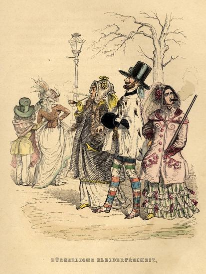 Women's Freedom of Dress, 1840S-Jean-Jacques Grandville-Giclee Print