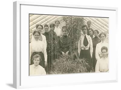 Women's Gardening Society--Framed Art Print