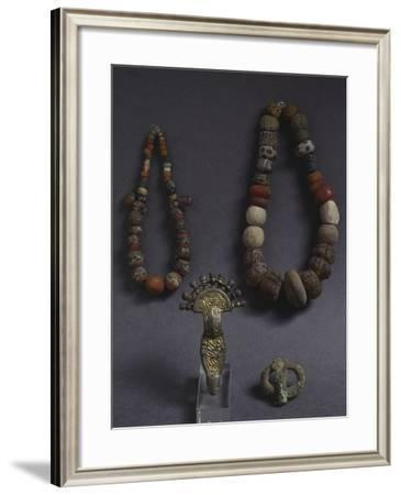 Women's Jewelry from a Tomb, Longobard Civilization--Framed Photographic Print