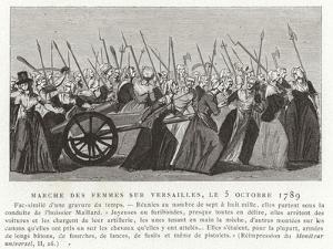 Women's March on Versailles, French Revolution, 5 October 1789