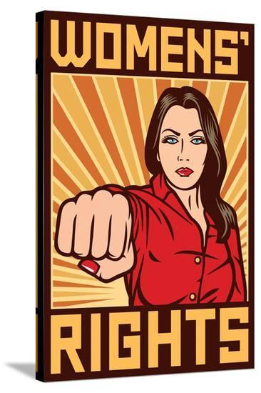 Women's Rights Poster--Stretched Canvas Print