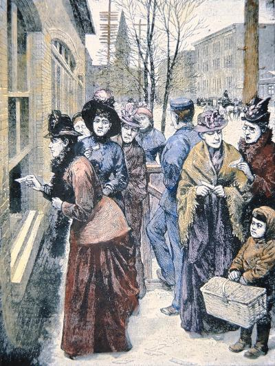 Women's Suffrage in the Usa: Women Voting in the Wyoming Territory after Winning That Right in 1869-American-Giclee Print