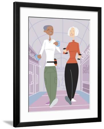 Women Shopping--Framed Photo