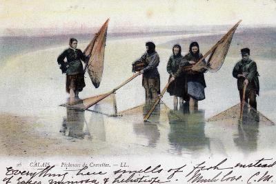Women Shrimp Fishers, Calais, 1905--Giclee Print