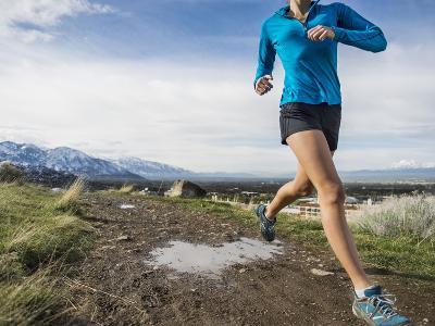 Women Trail Runner, Salt Lake City, Utah,-Brandon Flint-Photographic Print