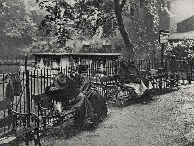 Women Vagrants Sleeping, Spitalfields, East End of London-Peter Higginbotham-Photographic Print